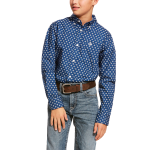 Boys'  Damon Print Long Sleeve Shirt