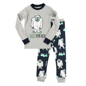 Kids'  Yeti For Bed Long Sleeve PJ Set