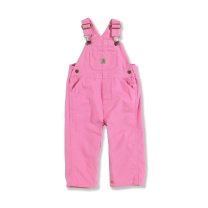 Girls'  Infant Toddler Washed Microsanded Canvas Bib Overall