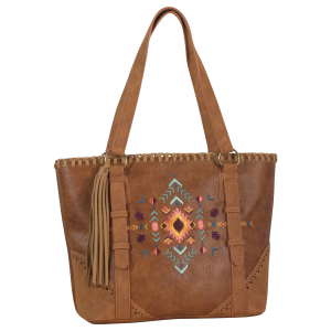 Avery Aztec Embroidered Concealed Carry Tote