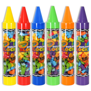 "80-Piece Blocks in 36"" Giant Crayon Tube - Assorted"