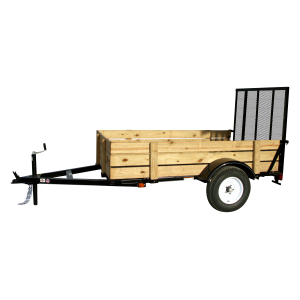 5 x 8 Woody Mesh Floor Trailer with Ramp Gate