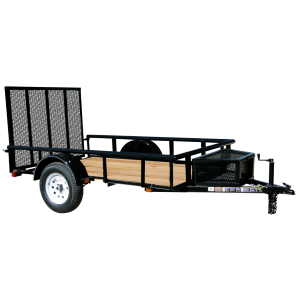 6 x 12 Wood Floor Trailer with Ramp Gate