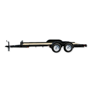 7 x 16 Tandem Wood Trailer with Slide-in Ramps