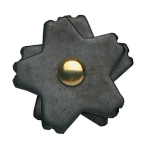 "1-1/4"" 5-Point Black Steel Rowel"