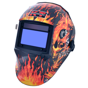Flaming Skull Auto Darkening Welding Helmet