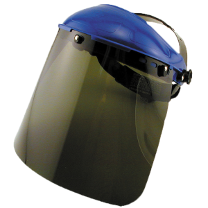 Green Face Ratchet Style Face Shield