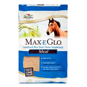 Max-E-Glo Stabilized Rice Bran Meal Horse Supplement